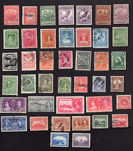 Newfoundland Collection of 41 Different Issues Used