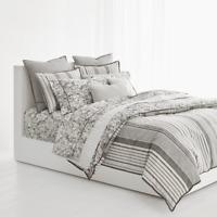 New Ralph Lauren Devon Full Queen Comforter Duvet Cover Cream Tan Floral Stripe