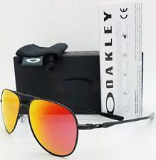 NEW Oakley Elmont M sunglasses Satin Black Ruby Iridium 4119-0458 AUTHENTIC red