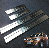 4Pcs Car Decor Stainless Steel Door Sill Scuff Plate For Nissan ROGUE 2014-2020