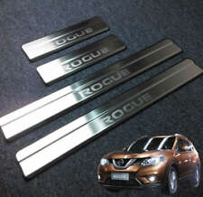 4Pcs Car Decor Stainless Stee Door Sill Scuff Plate For Nissan ROGUE 2016-2019
