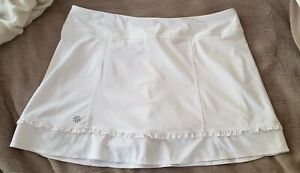 Athleta tennis skirt M Medium White Run Athletic Skort Athleisure