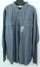 Harley Davidson 2XL SLIM men's XXL Woven Jean Pocket Shirt with Logos $70 NWT