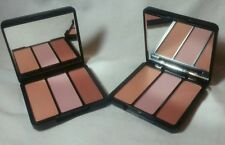 Lot of 2 Eve Pearl Blush Trio in Sweet Cheeks peach, pink & bronzer .32 oz Nwob