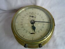 ANTIQUE ELLIOTTS MILITARY BRASS CASED 24 HOUR BULKHEAD CLOCK IN WORKING ORDER