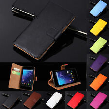 LEATHER Wallet Case Flip Cover Pouch For LG Model