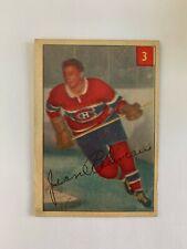 1954-55 Parkhurst #3 Jean Beliveau - Montreal Canadiens SET BREAK - Good Shape