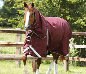 Premier Equine - Buster Zero 0g Turnout Rug With Classic Neck Cover Burg or Navy
