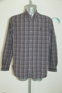 Pretty Shirt Gray Chequered Marlboro Classics Size XL Mint