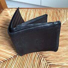 """Portefeuille (wallet) """"A-SO BOUTIQUE"""" en cuir noir, 3 volets, TBE"""