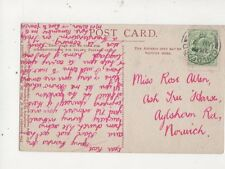 Miss Rose Allen Ash Tree House Aylsham Road Norwich 1910 535a