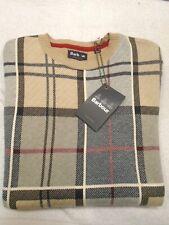 Barbour  100%Cotton Downfield Plaid Crewneck Sweater NWT Large $135