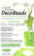 Green Deco Beads - Water Storing Spherical Gel Beads - Floristry Crystal Accents
