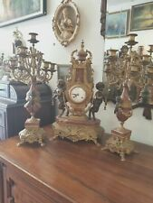 Franz Hermle' Imperial Bronze Clock and Candelabras