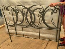 Ornate gunmetal pewter grey double bed frame with mattress,  used.