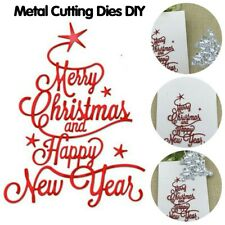 Merry Christmas Happy New Year Letter Scrapbook Paper DIY Metal Cutting Dies MA