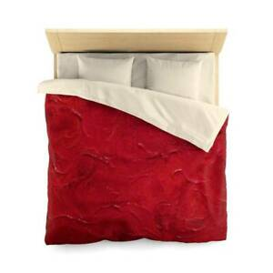 Red Joy Design Abstract Art Polyester Duvet Cover Artistic Quilt Blanket in Red