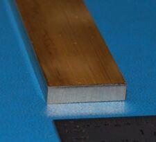 """Brass Rectangular Bar, .250"""" (6.4mm) x 1"""" (25.4mm) x 6"""""""