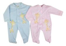 Baby Erstausstattung Velour Strampler / Schlafanzug Giraffe kuschelig weich
