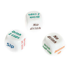 Fun Drink Drinking Sip Dice Roll Decider Die Game Party Bar Club Pub Gift Toy