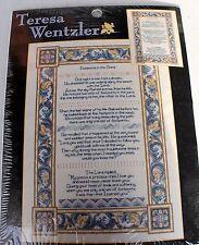 NEW Teresa Wentzler FOOTPRINTS Counted Cross Stitch Kit Leisure Arts 113958 Bead