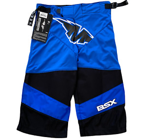 Mission Hockey Shorts Roller Hockey Size Junior Small Protective Gear Blue/Black