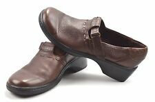 Clarks Brown Leather Mary Jane Slip on Loafers Shoes Women's Size 9.5 M  #37406