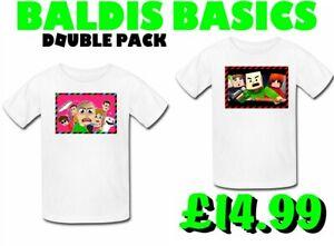 Baldis Basics - Education T Shirt XBOX PS4 GAMER Gamers. youtubers TWIN PACK