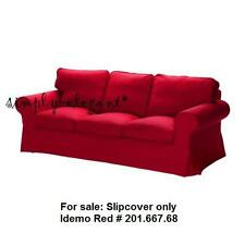 NEW IKEA Red EKTORP Cover for IKEA EKTORP Sofa 3 seater sofa Idemo Red Slipcover