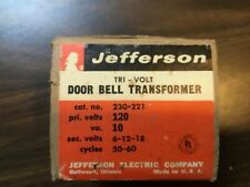 Jefferson -   Tri-volt Door Bell, Chime  Tansformer - Cat. No. 230-221