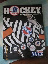 Moncton Hawks AHL Program 1991 - 1992