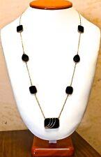 Antique 14k Black Onyx Necklace