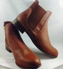 Large Size Ladies EVANS Brown Chelsea Ankle Boots Size UK 11 PLUS SIZE DARBY