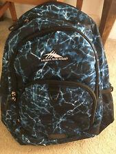 NWOT High Sierra backpack bookbag,neon blue black,backpack,bookbag