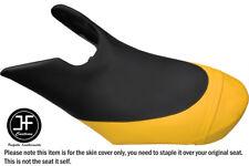 BLACK YELLOW CUSTOM FOR SEADOO 02-06 GTX DI 4-TEC FRONT VINYL SEAT COVER + STRAP