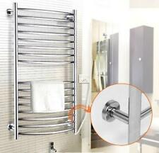 200W Heated Towel Rail - Wall Mounted 16 Bar Electrical Rack Warming Drying