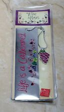 Wine and Roses Bookmark By Russ Life Is a Cabernet Silver Tone Metal Accessory