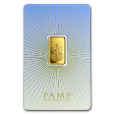 5 gram Gold Bar - PAMP Suisse Religious Series (Lakshmi) - SKU #94450