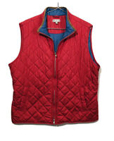 PETER MILLAR Coral/blue Men's Lightweight  puffed Quilted Vest size XL