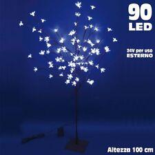 Albero di Natale Luminoso Ciliegio per Esterno 90 LED Altezza 100 Bianco Freddo