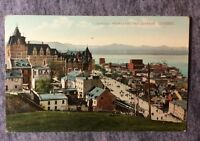 CHATEAU FRONTENAC AND TERRACE  QUEBEC CANADA POSTCARD 1900s#L642