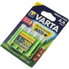 VARTA Lot de 4 piles rechargeables ACCU AA 2600mAh