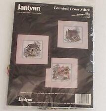 Janlynn Counted Cross Stitch Kit Cottage Trio #09-51 Set of Three