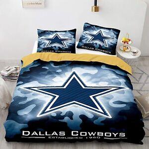 Dallas Cowboys Bedding Set 3PCS Duvet Cover & Pillowcase Quilt Cover Home Decor