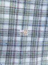 TARTAN PLAID UNIFORM APPAREL FLANNEL FABRIC - Sage/White - BY YARD CLOTHING #D