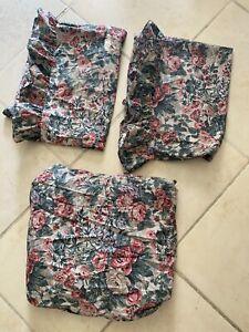 Vtg Ralph Lauren Floral Twin Fitted Sheet & 2x Standard Pillowcases Alison