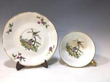 Bernardaud & Co. Limoges France Tea Cup & Saucer - Birds/Cherries Pattern