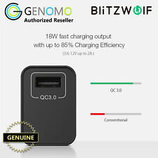 BlitzWolf 18W QC3.0 USB Wall Fast Charger Adapter AU Plug for Samsung, Apple