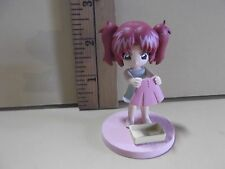 "#A829 Unknown Anime 2.5""in Red Head Girl Washing Her Skirt"