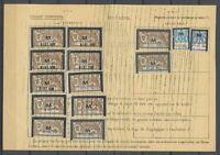 1932 Feuillet Assurances Sociales Type MERSON Surch M 14 timbres 125f25 P2588